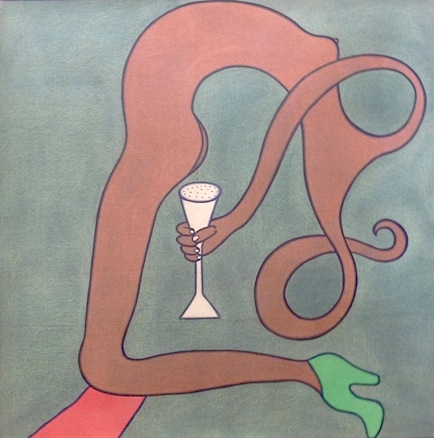 A Lady and a Wine Glass by Gusti Ayu Murniasih